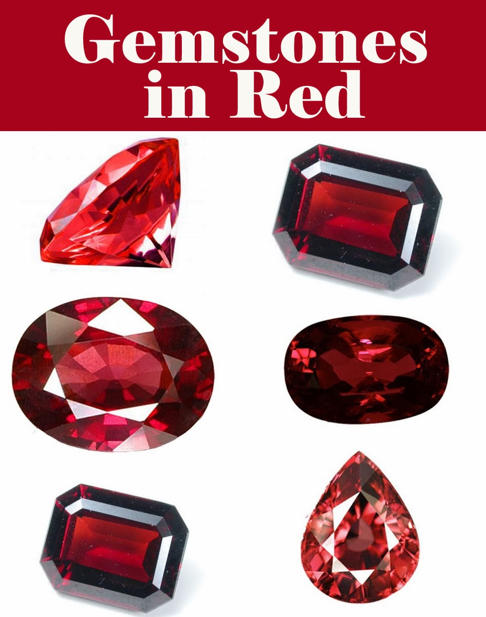Gemstones in color - RED | Jewels of sayuri