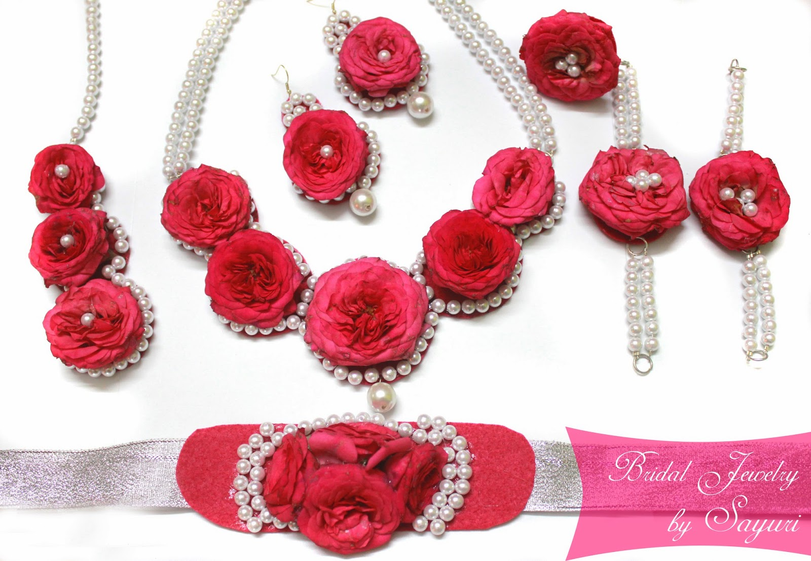 Real flower Bridal Jewelry