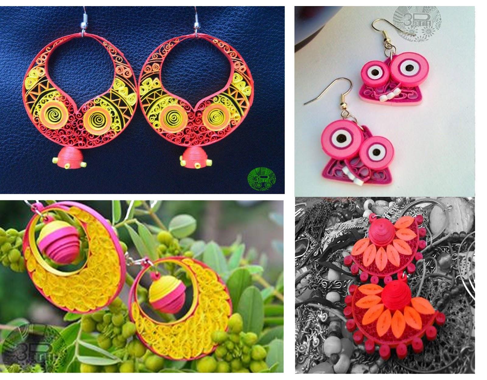Lets meet shweta yadav of 3dart jewels of sayuri for Big quilling designs