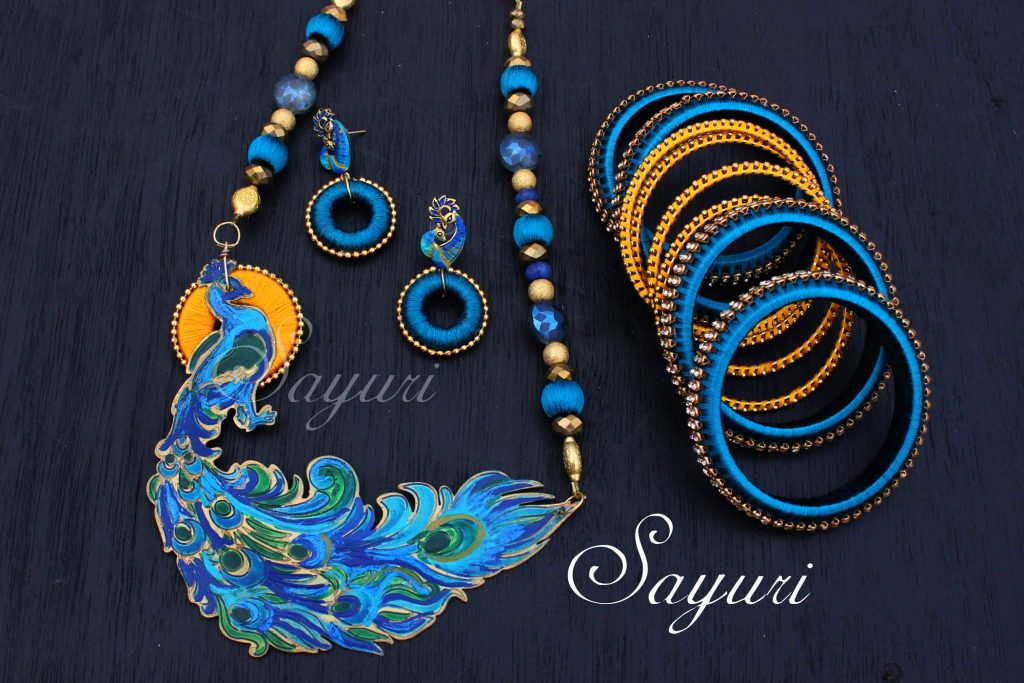 Vibrant Bridal silk thread jewelry | Jewels of sayuri